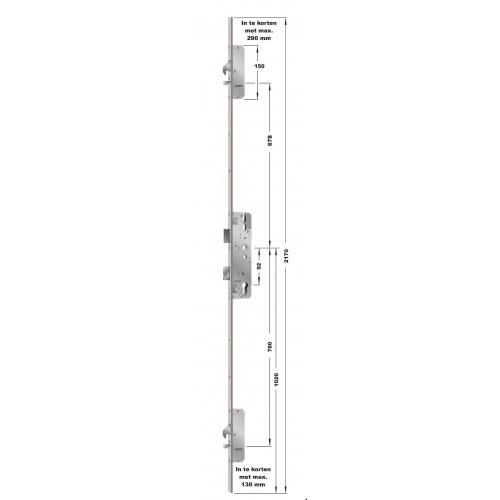 KFV AS 4600 Krukbediende meerpuntssluiting met haken en pennen.