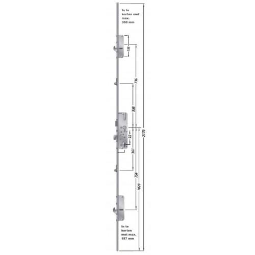FUHR 856 hakenslot voor achterdeur, Type 3.